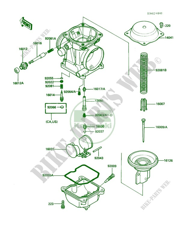Carburetor Parts For Kawasaki 454 Ltd 1985   Kawasaki