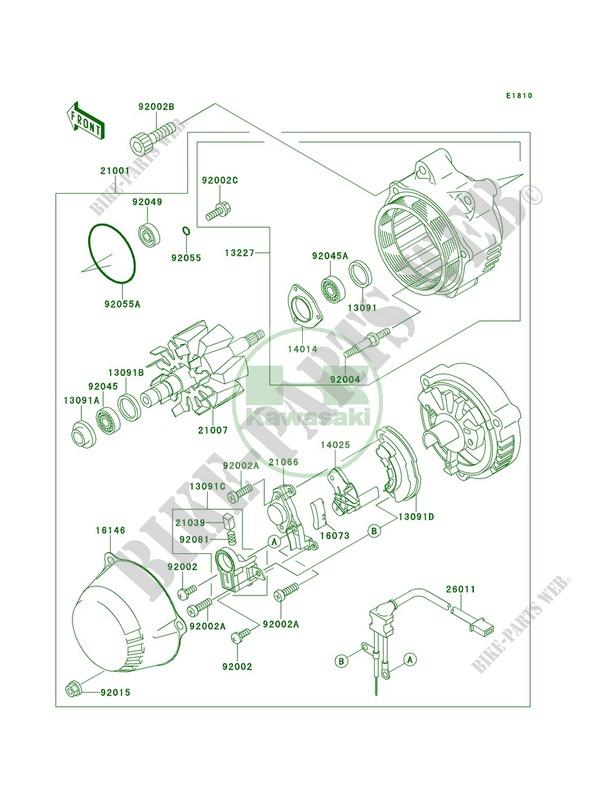 Generator for Kawasaki Ninja ZX-11 2001 # on