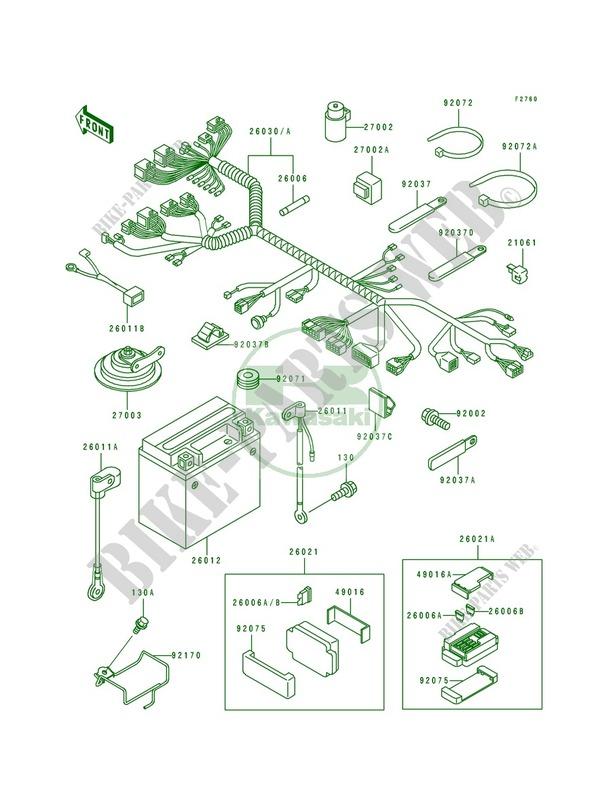 kawasaki motorcycle wiring diagram on light chis electrical equipment  zx750 l3 ninja zx 7 1995 750 motos     on light