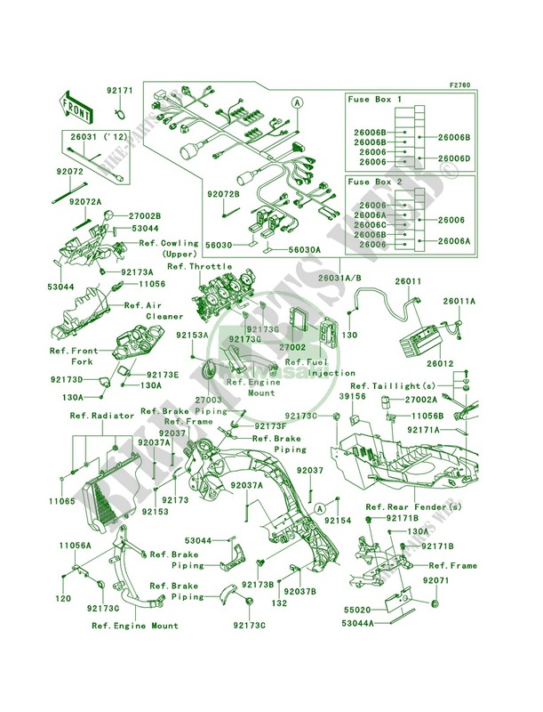 kawasaki versys wiring diagram chassis electrical equipment for kawasaki versys 1000 2012  kawasaki versys 1000