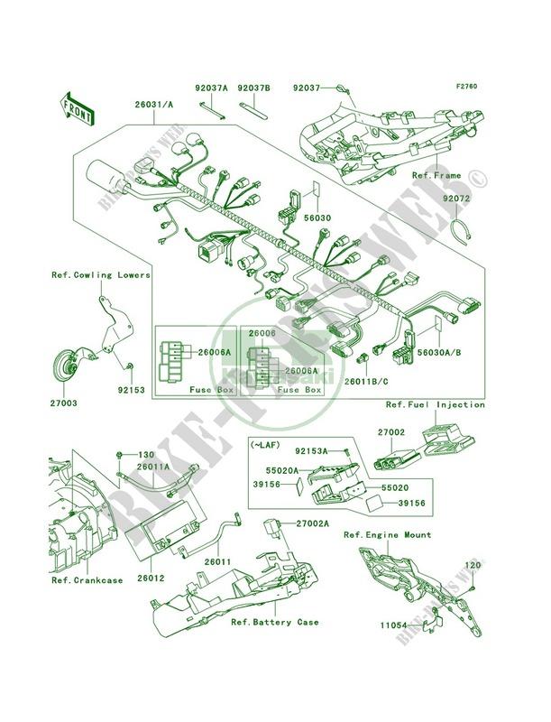 Chassis Electrical Equipment for Kawasaki Z750 2009 # KAWASAKI - Genuine  Spare Parts Catalog OnlineKawasaki GENUINE PARTS