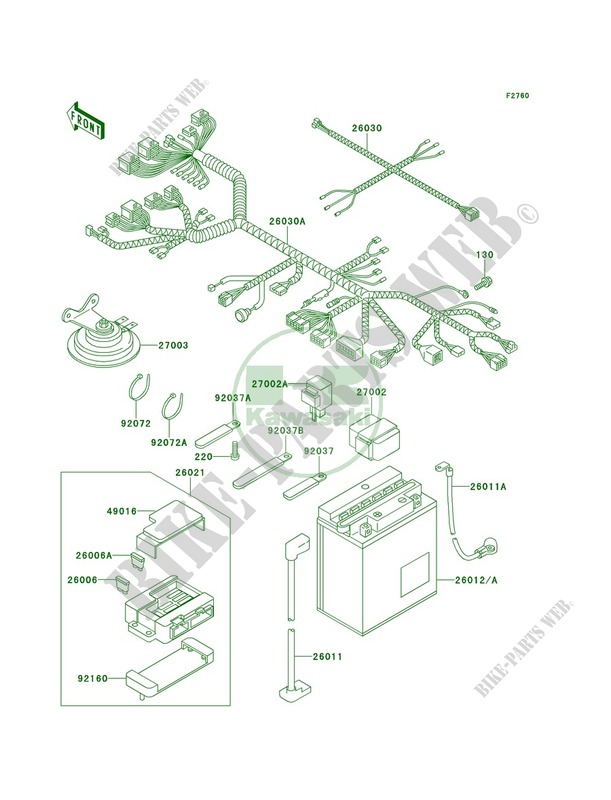 chassis electrical equipment zx1100 e1 gpz 1100 1995 1100 motoskawasaki motos 1100 1995 gpz 1100 zx1100 e1 zx1100 e1 chassis electrical equipment